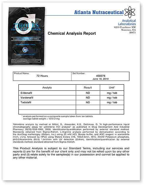 72 Hour Lab Report