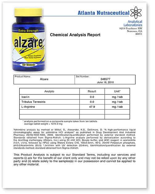 Alzare Lab Report