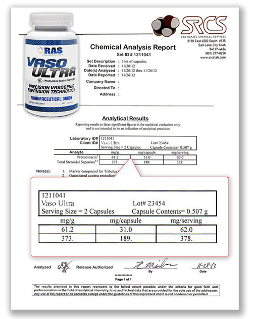 Vaso Ultra Lab Report